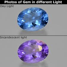 21.3ct Violet to Blue <b>Color</b>-Change Fluorite Gem from Brazil <b>Natural</b> ...