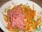 Салат из моркови по-корейски с копченой колбасой