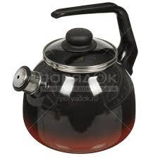 <b>Чайник эмалированный</b> СтальЭмаль 4с209я Кармен <b>со свистком</b> ...