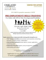 oucares pre employment training for adults autism oucares pre employment skills training
