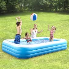 Deluxe Rectangular Inflatable Family Pool - Christmas Tree Shops ...