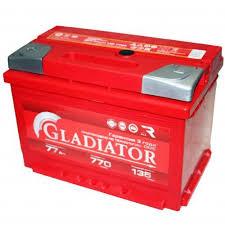<b>Аккумуляторная батарея Gladiator</b> 77 А.ч Прямая полярность