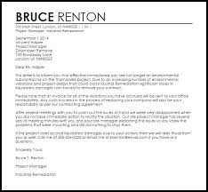 subcontractor termination letter sample early lease termination letter template