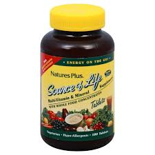 Nature's Plus - <b>Source Of Life</b> Multi-Vitamin & Mineral Supplement ...