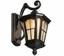 antique rustic iron waterproof outdoor wall lamp vintage kerosene lantern light rusty matte black corridor hallway wall light antique courtyard outdoor lighting 1