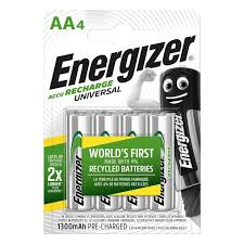 "<b>Аккумуляторы Energizer</b> ""<b>Universal</b>"" (<b>NH15/AA</b> 1300 BP4), 4 штуки ..."