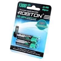 <b>Аккумулятор Ni</b>-<b>Mh</b> 1300 <b>мА</b>·<b>ч</b> ROBITON DECT AA HR6 Mignon ...