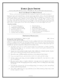 advertising and marketing resume resume samples for sales