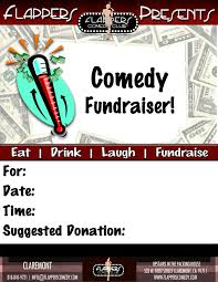flappers comedy club fundraising fundraising flyer