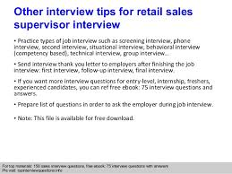 retail s supervisor interview questions and answers  interview questions answers pls topinterviewquesitonsinfo 10