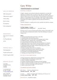 administration cv template examples sample resume of executive assistant