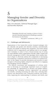 managing gender and diversity in organizations springer inside