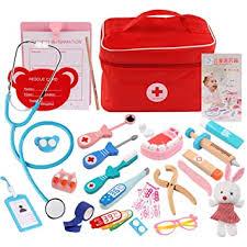 Buy FidgetGear <b>Children Wooden Simulation</b> Bag Medicine Box ...