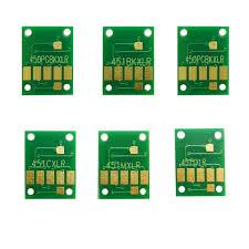 6 colors <b>1 set</b> printer chip <b>Auto Reset</b> ARC chips CLI 551 ink ...