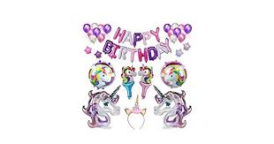 <b>Cute Unicorn</b> Party Supplies and Decorations Set - With Glitter ...