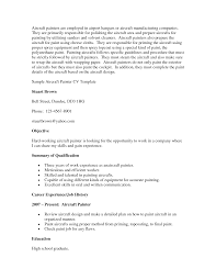 aviation painter resume painter resume resume format pdf