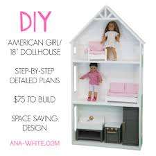 Ana White   Smaller Three Story Dollhouse for  quot  and American    make a beautiful American girl dollhouse   easy plans by Ana White  Under   to make