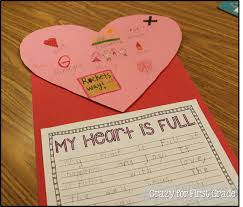 crazy for first grade my heart is full a writing bie my heart is full a writing bie