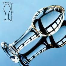 Анальный фаллоимитатор со стеклом пирекс, 44 мм, <b>анальная</b> ...