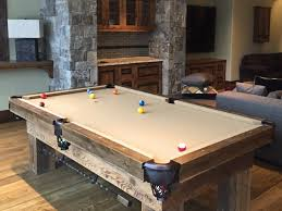 dartboard cabinet spaces rustic with barn board barn wood barnwood billiard table bridge stick bridgestick custom chandelier barn board