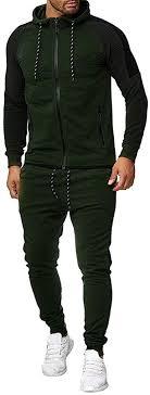 Limsea Men's Sports Suit Tracksuit 2019 Spring Solid ... - Amazon.com