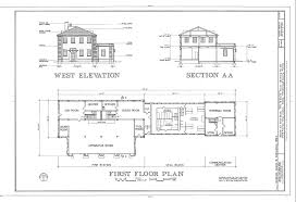 West Elevation  Section  and First Floor Plan   MacDill Air Force    JPEG   kb