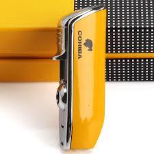 <b>COHIBA Mini</b> Pocket <b>Cigar</b> Lighter <b>Metal</b> Windproof 3 Jet Blue ...