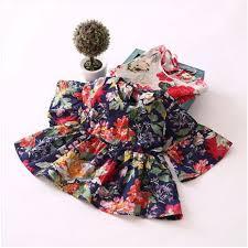 Cotton <b>Dress Summer</b> Flower <b>Children Clothes Baby Girl Dress</b> ...