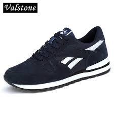 Valstone Men's <b>Genuine leather sneakers</b> Breathable casual shoes ...