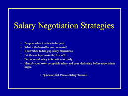 Seminar Eight CS410 1.After the Interview 2.Salary Expectations ... Salary Negotiation Strategies Be quiet when it is time to be quiet. What is the