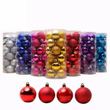 <b>24 PCS 4cm</b> 6cm 8cm Modern Shiny <b>Christmas Tree</b> Ball Baubles ...