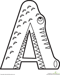 Small Picture Letter A Coloring Pages For Toddlers Cecilymae