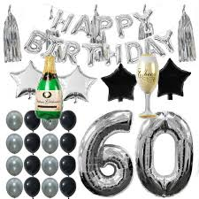 <b>42pcs Lot</b> 60th B-day Party Supplies Decorations Kit Pack, Silver ...