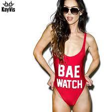 2019 KayVis <b>BAE WATCH Swimsuit Bodysuit</b> One Piece Swimwear ...