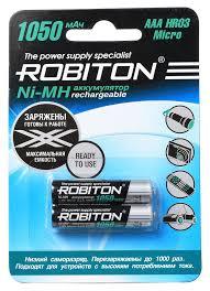 <b>Аккумуляторы AAA Robiton</b> NiMH 1050 мА·ч (2 шт.) / Купить с ...