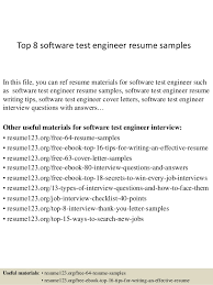 Software Developer Resume Example  software developer resume     Sample Resume  Software Tester Resume Sle Resumes