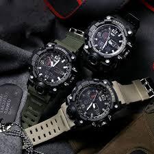 <b>Top Luxury Brand SMAEL</b> Men's Camouflage Khaki Quartz Clock ...