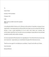 Job Rejection Letter - 6+ Free Doc Download Job Offer Rejection Thank You Letter