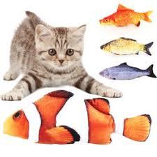 Funny Simulation <b>Plush</b> Catnip <b>Toy</b> Lifelike Artificial Fish <b>Pet Cat</b> ...
