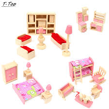 wooden pink multi kinds of cute wooden miniature kids pretend play dollhouse furniture toy for kids aliexpresscom buy 112 diy miniature doll house