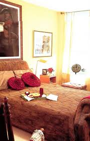 contemporary traditional african style bedroom with bright and deep earth tone african themed furniture