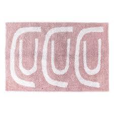 <b>Коврик для ванной</b> TKANO <b>Go</b> round Cuts&Pieces, 60х90 см, роза ...