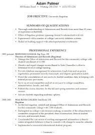 high school college resume sample  seangarrette coexample college application resume with registrar experience