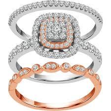10k Two Tone Gold <b>3</b>/4 Ctw <b>3 Pc</b>. <b>Bridal</b> Set, Size 7   <b>Bridal</b> Sets ...