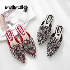 <b>Wellwalk Flat Slippers</b> High Fashion Mules <b>Shoes Women</b> Designer ...