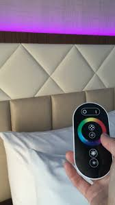 best of all this mood lighting can be controlled by the guest via remote control leaving them to pick whatever color they like best best mood lighting