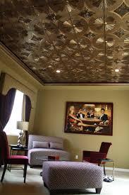 copper ceiling tiles bathroom