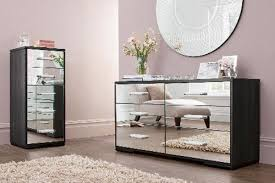 glass bedroom furniture rectangle shape wooden cabinets:  bedroom mirrored furniture for less white tufted high headboard line shape drawers chest rectangle wooden dressing