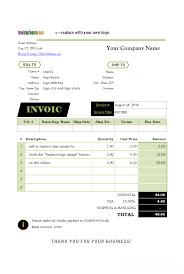 how to write a bill for services rendered invoicing template logo