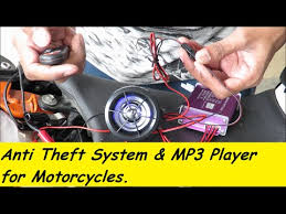 <b>Motorcycle</b> Anti-Theft System & <b>MP3</b> Player with Speakers. - YouTube
